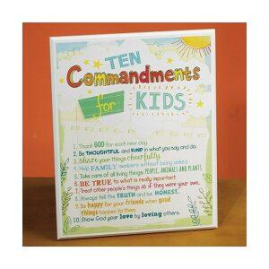 Commandments Kids Wall Plaque