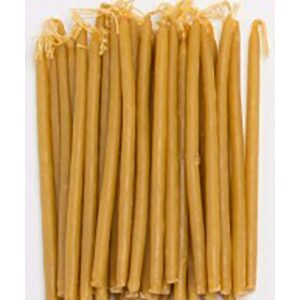 100% Beeswax Natural Taper Candle
