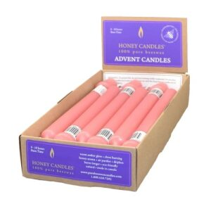 100% Beeswax 9″ Pink
