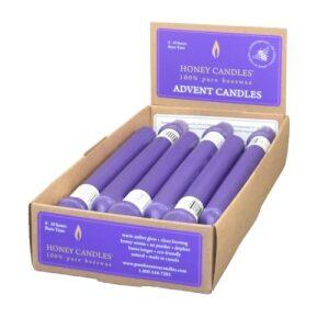 100% Beeswax 9″ Purple