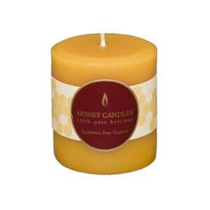 100% Beeswax 3″ Natural Pillar Candle