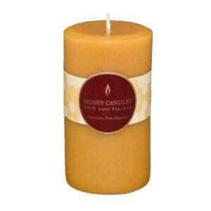 100% Beeswax 5″ Natural Pillar Candle
