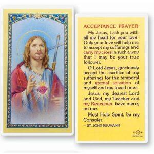 Acceptance Prayer Card