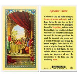 Apostles Creed Prayer Card