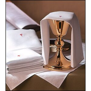 100% Cotton Purificator Red Cross Altar Linen