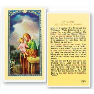 Saint Joseph Protector Prayer Card
