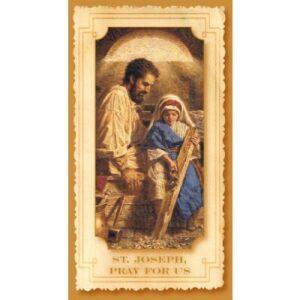 NOVENA TO ST JOSEPH PRAYER CARD