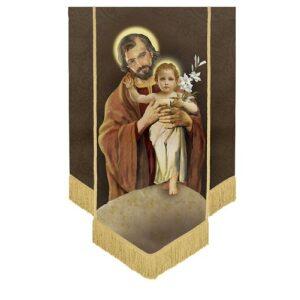 BANNER ST. JOSEPH AND JESUS
