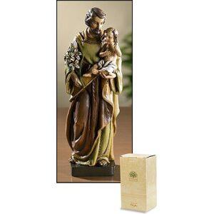 Saint Joseph with Jesus Statue 8″